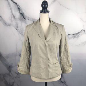 ELIE TAHARI cotton blend blazer jacket